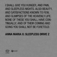 Anna Maria X - Sleepless Drive 2 LP - VINYL - CD